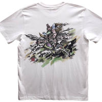 T-shirts men Tomoe Gozen color Japanese sumi-e Art