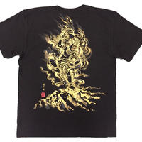 T-shirts men Zao-Gongen black  Buddhist Japanese sumi-e Art