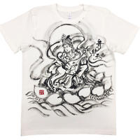 T-shirts Benzai-Ten Japanese Sumi-e Art white Handmade