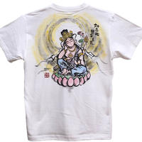 T-shirts men Nyoirin Kannon color Buddhist Japanese sumi-e Art