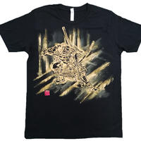 T-shirts men Asahina black Japanese sumi-e Art