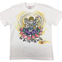 T-shirts Ganesha  FRONT color Japanese Sumi-e Art