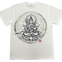 T-shirts men Kokuzou bosatsu white Buddhist Japanese sumi-e Art