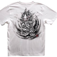 T-shirts men Shuten Do-Ji white Japanese sumi-e Art