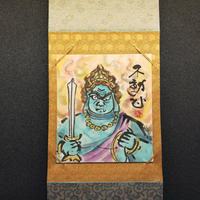 Fudo Myo-O hanging scroll shikishi paper