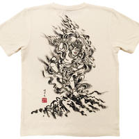 Hemp T-shirts men Zao-Gongen Buddhist Zen Japanese sumi-e art