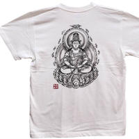 T-shirts men Dainichi-Buddha white Buddhist Japanese sumi-e Art