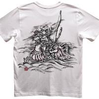 T-shirts men Nasu no Yoichi white Japanese sumi-e Art