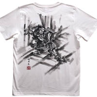 T-shirts men Asahina white Japanese sumi-e Art