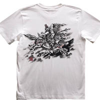 T-shirts men Tomoe Gozen white Japanese sumi-e Art