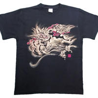 T-shirts men Kirin black Buddhist Japanese sumi-e Art