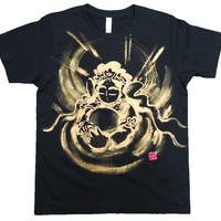 T-shirts men Hearts of Kannon black Japanese sumi-e Art