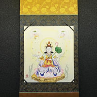 kissho Ten Laksmi  hanging scroll shikishi paper