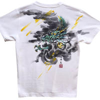 T-shirts men Dragon part1 color Japanese sumi-e Art