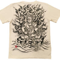 Hemp T-shirts men Fudo Myo-O Buddhist Zen Japanese sumi-e art