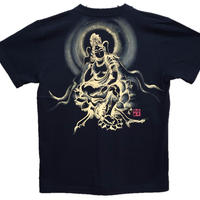 T-shirts men Miroku-Buddha black Buddhist Japanese sumi-e Art