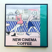 """リソグラフ・レコードジャケット作品 """"NEW CINEMACOFFEE・Convenience Store's Coffee"""" フレーム付き"""