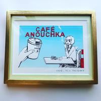 """版画 """"Café Anouchka, Chloé 2"""""""