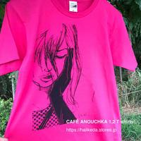 CAFÉ ANOUCHKA T-shirts 2019◎カフェ・アヌーシュカTシャツ・ピンク