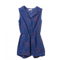 40%OFF!【Bobo Choses】Flamingos Tailor Neck Rompers(サロペット)4-5Y