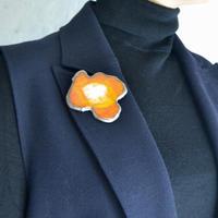 Brooch 'Flower of mission.' orange.