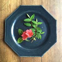 エミシ工房   八角皿(瑠璃)