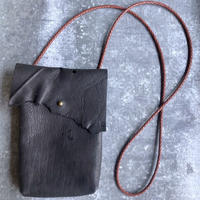 sowaka  鹿革のポシェット・黒