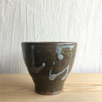 三輪田窯  稲井グリーンのフリーカップ