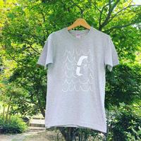はまぐり堂オリジナル  かもめTシャツ (グレー×白)