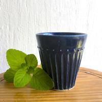 エミシ工房   しのぎフリーカップ(瑠璃)#1