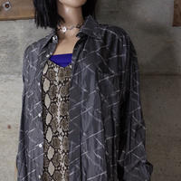"""""""GIANNI VERSACE"""" Vintage Designed Shiny Shirt"""