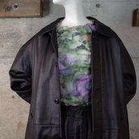 Designed Leather Long Coat