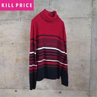 Turtleneck Rib Cotton Knit