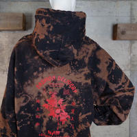 """HAM"" Original Bleach Out Sweat Hoodie #Black[在庫が無くなり次第終了]"