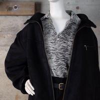 Vintage Big Size Faux Sheepskin Zip-up Jacket