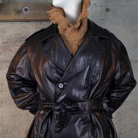 Vintage Designed Leather Trench Coat