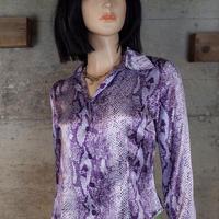 Vintage Designed Satin Shirt