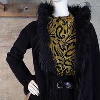 Vintage Designed Angora Fur Jacket