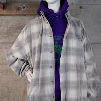 Vintage Big Size Plaid Corduroy Shirt