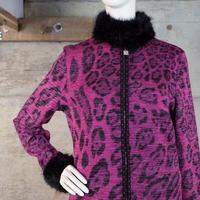 """伊太利屋"" Vintage Designed Zip-up Knit"