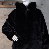 """asos"" Faux Fur Hooded Jacket"