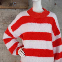 Vintage Striped Shaggy Knit