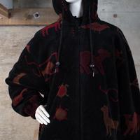 Vintage Designed Zip-up Fleece Jacket