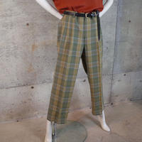 Plaid Wool Slacks