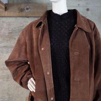Suede Leather Half Coat