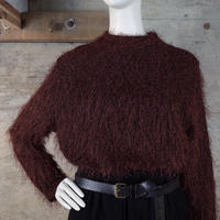 Vintage Feather Yarn High-necked Knit