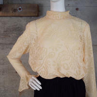 Vintage Designed Sheer Blouse