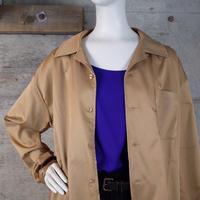 Open-collared Satin Shirt