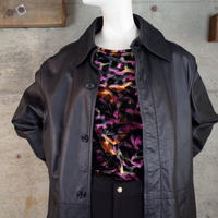 Vintage Leather Long Coat