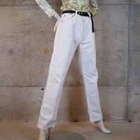 """Levi's"" 501 White Denim Pants"